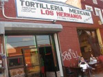Tortilleria Mexicana Los Hermanos. Perhaps you didn't know this about me, but I am obsessed with all things Anthony Bourdain. On an episode of No Reservations, the legend himself visited New York's outerboroughs, notably this mom-and-pop taco shop in Bushwick. It's the real deal.