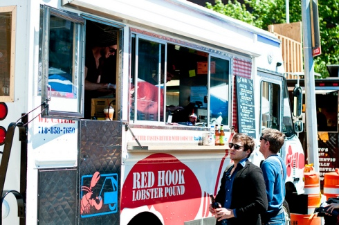 Red Hook Food Vendors. Purveyors from all across Latin America gather in Brooklyn's Red Hook to serve up local delicacies. Oh yeha, and people play soccer. Soccer and a papusa. That sounds lovely. Corner of Bay and Clinton St. Brooklyn, NY Subway: F & G to Smith-9 Streets