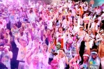 "The Color Run, August 25-26. Join fellow New Yorkers for a rainbow of a 5k. Each kilometer of the event is associated with a designated color.  1k is yellow, 2k is blue, 3k is green, 4k is pink, and the 5k finish is a ""Color Extravaganza.""  As the runners/walkers hit the Kilometer COLOR RUN Zones, they will be blitzed by volunteers, sponsors, and staff with COLOR."