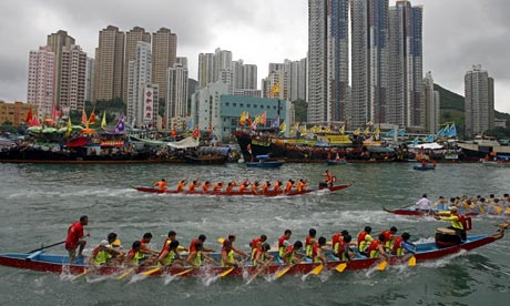 NYC's Hong Kong Dragon Boat Festival. Head out to Flushing Meadows Park (for free!) for a weekend full of ornately decorated dragon boats racing up and down the river, much like is done in China and Hong Kong.